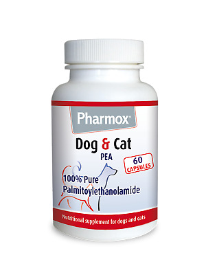 100% Pure Palmitoylethanolamide / Palmidrol  (PEA) for dogs & cats - 60 capsules