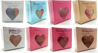 Makeup Revolution I Heart Blushing Hearts Baked Blusher, Highlighter, Bronzer