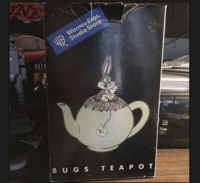 Vintage Warner Bros. Studio Store Bugs  Bunny Teapot - In Original Box!