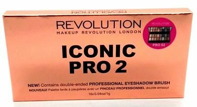 MAKEUP REVOLUTION Eyeshadow Palette ICONIC PRO 2 Nude Neutral Smokey NEW