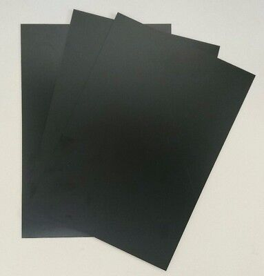 Plasticard High Impact Polystyrene 0.5mm 20 thou Sheet A4 Gloss Black