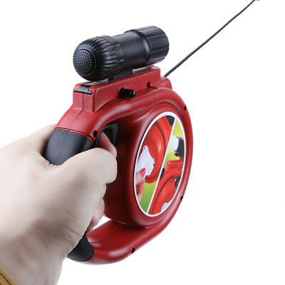 New Rolson 5M Retractable Dog Lead With 9 LED Torch Pets Puppy Leash RED