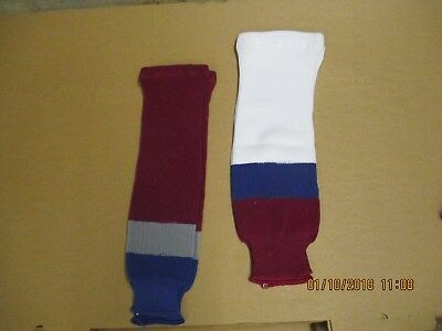 NHL Ice Hockey Socks Colorado Avalanche Home and Away Colours