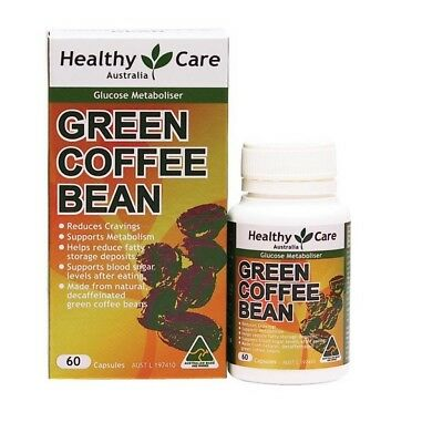 Healthy Care Green Coffee Bean 60 Capsules -  Australian Made