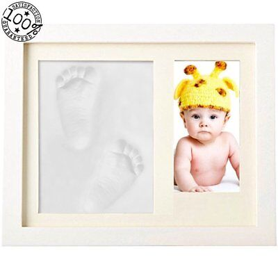 Fanme Baby Handprint and Footprint Picture Frame Boys Girls Shower Gifts for DIY