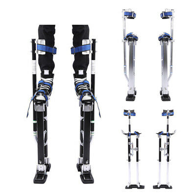 "Heavy Duty Plastering Drywall Stilts 24-40"" Building Tool 225Ibs Load BLK Silver"