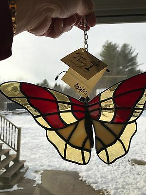 3-D Hanging Butterfly in Stained Glass