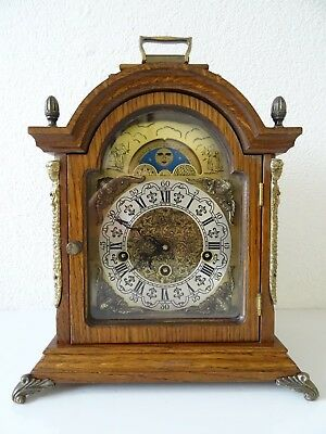 Dutch Vintage BIG WESTMINSTER Mantel Shelf Clock (Junghans Hermle Warmink era)