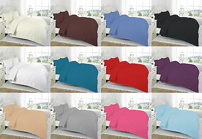 Polycotton Percale Quality 12u0027u0027 (30cm) Extra Deep Plain Dyed Fitted Bed  Sheets