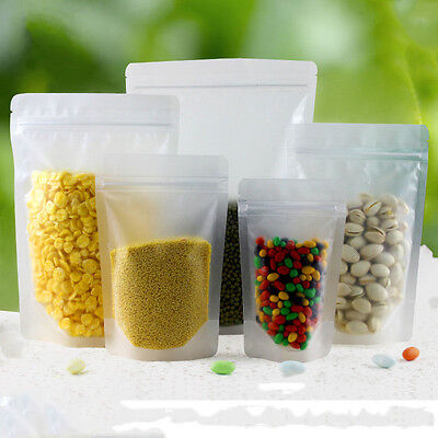 Frosted Clear Plastic Packaging Bag Matte Zip Lock Resealable Food Grade Pouch