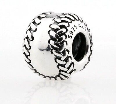 Authentic Pandora Baseball Charm W/ Pandora TAG & HINGED BOX #790969 Retired