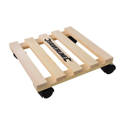 Home DIY General Dolly Trolley Platform Wheels 60KG Easy Movement Beech wood