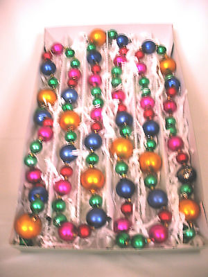 17 Strands Of Stunning Multi-Color Glass Hand Painted Christmas Garland