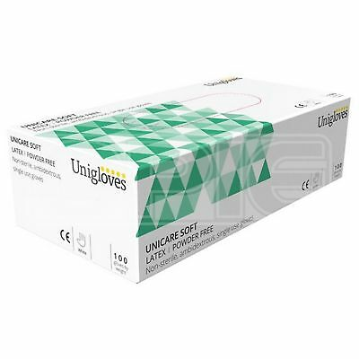 Unicare Latex Powder Free Gloves - Small (GS0012) - Pack of 100