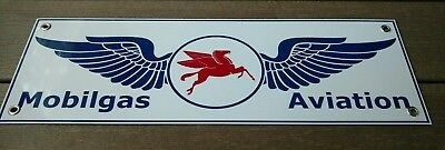 Mobil Pegasus Aviation sign gas oil gasoline 18 inches wide