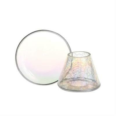 Yankee Candle Pearlescent Crackle Small Shade and Tray FREE P&P