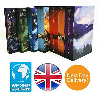 New Harry Potter Complete Book Set J K Rowling 7 Collection Paperpack Edition