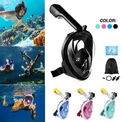 Full Face Snorkeling Mask Scuba Diving Swim Snorkel Breather Pipe for Gopro UK