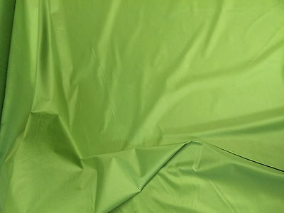"""10 Mtrs 64""""  Wide Lime Green Non Ripstop Waterproof Windproof Pertex  Fabric"""