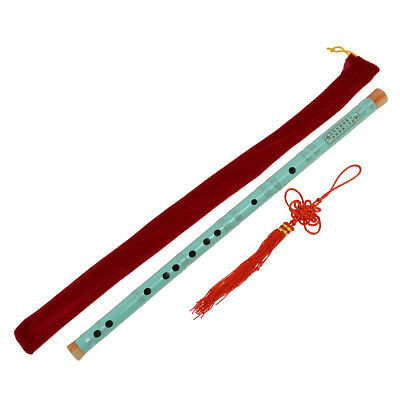 Colorful Paint Traditional Chinese Bamboo Flute Dizi F Key Musical Instrument