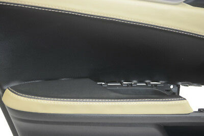 Front Door Armrest Leather Synthetic Cover for Honda Civic 16-19 Black & Beige