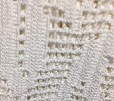 Gorgeous Small Vintage Knitted Table Cloth .. Hand Made.. Measurements 140by90