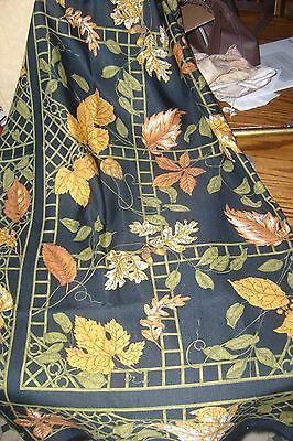 100% Polyester scarf, made in Italy, true vintage, multi-color, 1965-1976