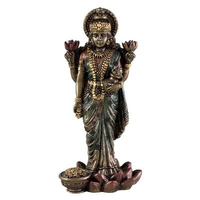 "NEW 3"" Mini Lakshmi Hindu Goddess of Light Figurine Eastern Deities Gift 3301"