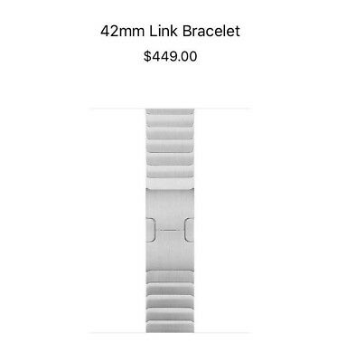 Authentic OEM Apple Watch 42mm 316L Stainless Steel Link Bracelet Band MJ5J2ZM/A