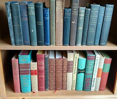 Lot of 30 Beautiful Old Antique Classic Vintage Book Library Collection STAGING