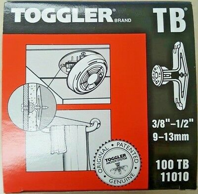 "Toggler Super Toggler Tb Wall Anchor 100/bx 11010 For 3/8-1/2"" Thick Walls"