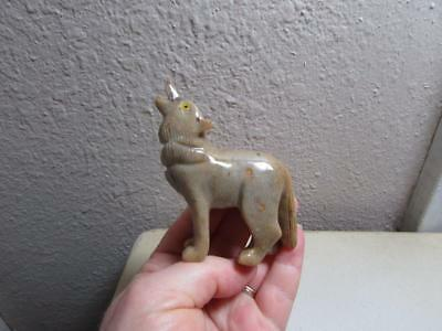 Wolf, Solid stone Hand carved from the Andes of Peru Richly Hued Wolf, Unique!