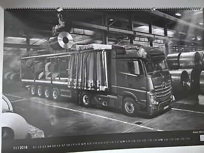 XL Mercedes Benz Wand-Kalender Beauties @ at Work 2018 OVP Trucks you can trust