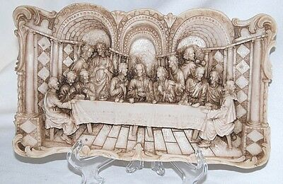 The Last Supper 3 Dimensional Christian Jesus & Disciples Resin Wall Sculpture