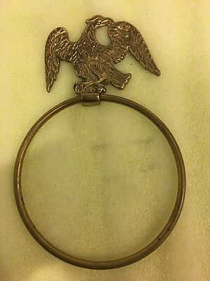 Vintage Brass American Bald Eagle Door Knocker And Door Pull