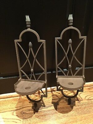 Southern Living at Home CORDOVA Wall Sconces Set of 2 Metal Candle Holders 18""