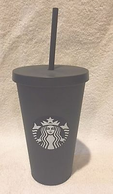 2017 Starbucks Tumbler Graphite Cold Drink Cup 16oz Travel Acrylic Grande