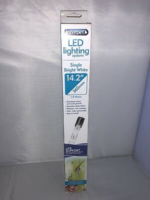 Interpet LED Lighting System Single Bright White 360mm For Fish Tank Aquarium