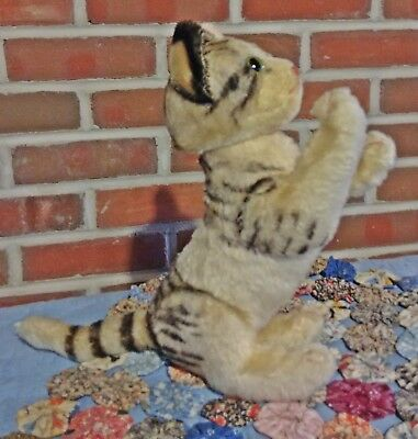 Large Jointed,Steiff c1950s, Tabby Cat Kitty ~ Wonderful Condition ~ Adorable!!