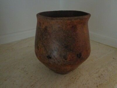 Antique Ancient Primitive French Pottery Confit Or General Use Pot For Resin