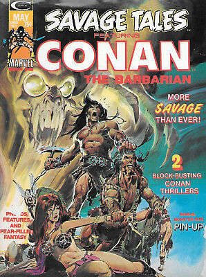 Savage Tales Conan Barbarian #4 F Marvel Comics Magazine May 1974