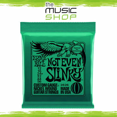 5 x Ernie Ball 2626 Not Even Slinky Electric Guitar Strings 12-56 Bulk Pack New