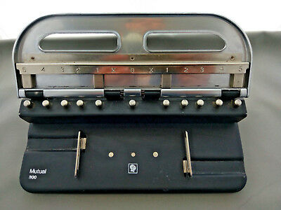 Acco Mutual 300 Adjustable 1-4 Hole Paper Punch Heavy Duty 11 Options ~ Vintage