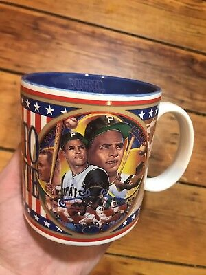 Vtg 1993 Roberto Clemente Pittsburgh Pirates Sports Impressions Coffee Cup Mug