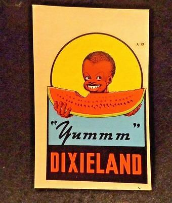 Black Americana Trade Card  Advertising Dixieland Watermelons  Looks Great