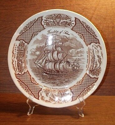 """4 Alfred Meakin FAIR WINDS BROWN 10-5/8"""" Dinner Plates"""