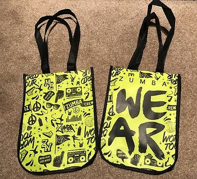 ZUMBA World Tour Shopping/Tote Bags Travel/Cosmetic/Gym/Shoe Bag Free Shipping.