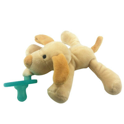 Pacifiers Silcone with Plush Stuffed Animal Toy for Infant Baby Toddler