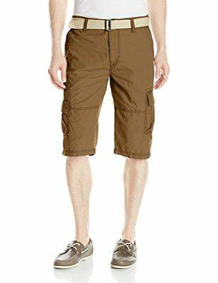Unionbay Men's Ripstop Belted Messenger Length Cargo Short NEW FREE SHIPPING