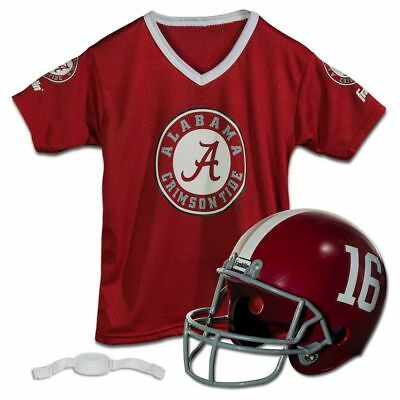 NCAA University of Alabama Crimson Tide Helmet/Jersey Set - Franklin Sport New *